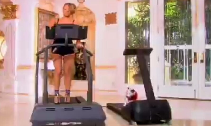 Mariah Carey shows off her super power on a treadmill with 6″ hills