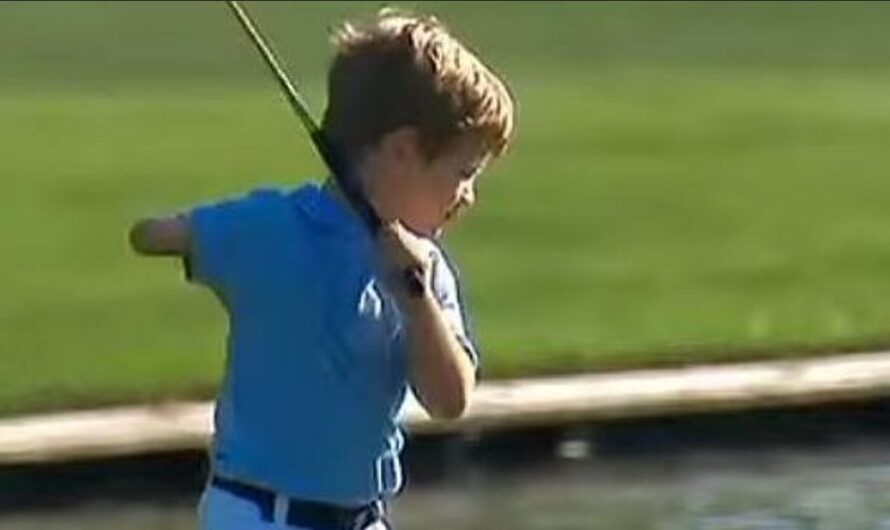 Little Tommy with One Arm – impresses Tiger Woods in Golf