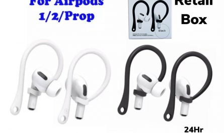 For AirPods 1/2 Pro TPU Silicone Ear Hooks / AirPods Black/White / USA SELLER