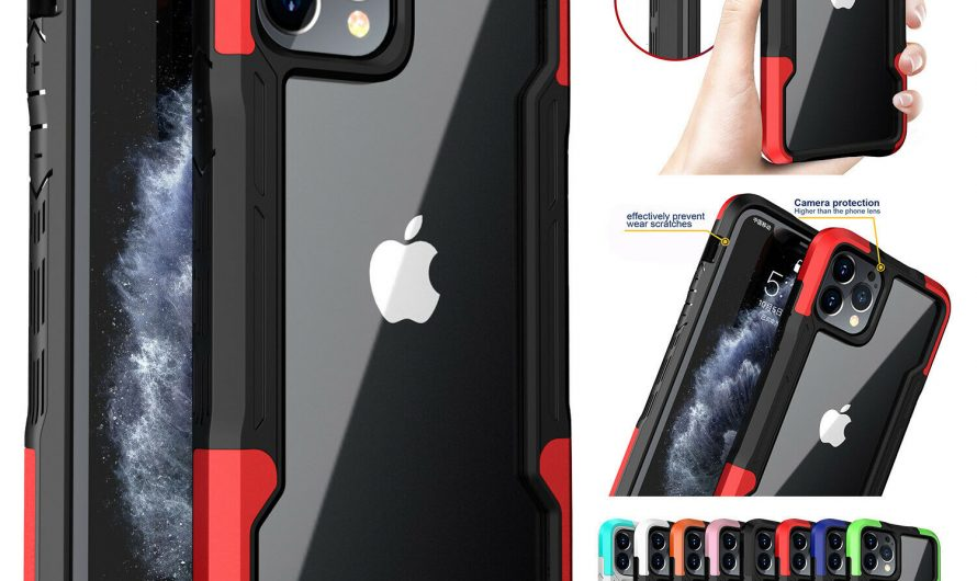 For iPhone 12 Pro Max 11 XS XR 8 7 SE2 Hybrid Shockproof Bumper Clear Case Cover