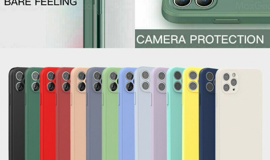Soft Thin Phone Case Square Liquid Silicone Cover For iPhone 11 12 XS MAX XR 7 8